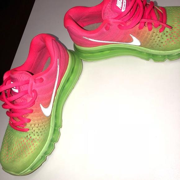 nike air max pink and green